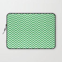 Basic Green Chevron Laptop Sleeve