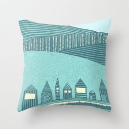 Where Seven Dwarfs Live Throw Pillow