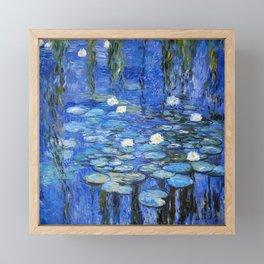 waterlilies a la Monet Framed Mini Art Print