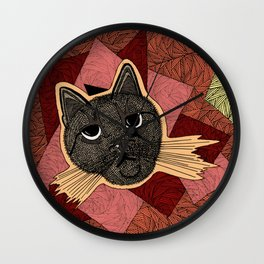 Cattitude: A cat with an attitude Wall Clock