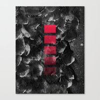 decal Canvas Prints featuring black ocean by LEEMO