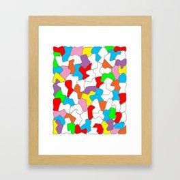 Multi-colored Shapes  Framed Art Print