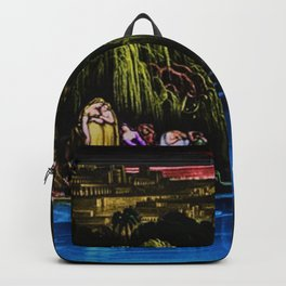 The Waters of Babylon Landscape Painting by Jeanpaul Ferro Backpack