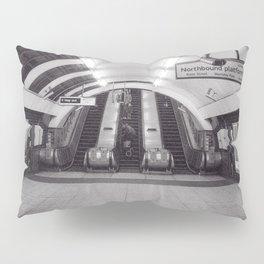London Underground in black and white Pillow Sham
