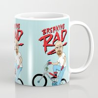 breaking Mugs featuring Breaking Rad by Chris Piascik