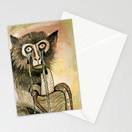 Sad Monkey Stationery Cards