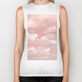 Clouds in a Peach Sky Biker Tank