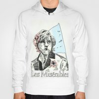 les mis Hoodies featuring Enjolras Les Mis Poster by Pruoviare