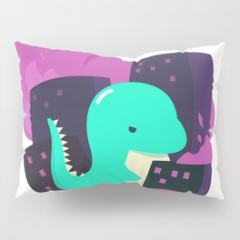Angry and cute dinosaur Pillow Sham
