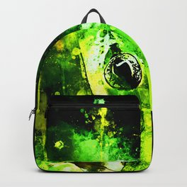 green tree frog ws Backpack