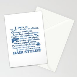 I am a Hair Stylist Stationery Cards
