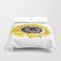 sunflower Duvet Covers featuring Sunflower by Regan's World