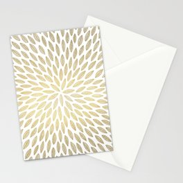 Just Gold Leaves Stationery Cards