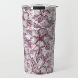 Spring Blossom in Marsala, Pink & Plum Travel Mug