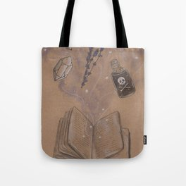 Witches Grimoire Tote Bag