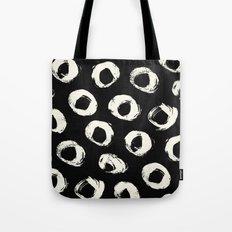 Polka Dots Cream on Black 2 Tote Bag
