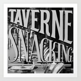 Paris Taverne Art Print