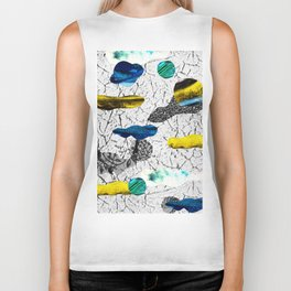 Space collage Biker Tank