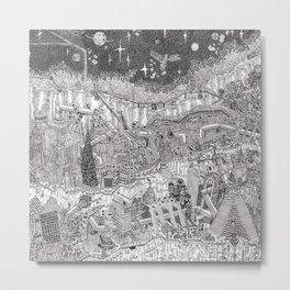 Imaginary Cityscape Metal Print