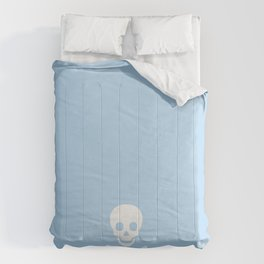 SKULL - LIGHT BLUE & WHITE Comforters