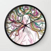 venus Wall Clocks featuring venus by Beth Jorgensen