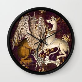 Gryphon and Greyhound - Garden of Beasts Collection Wall Clock