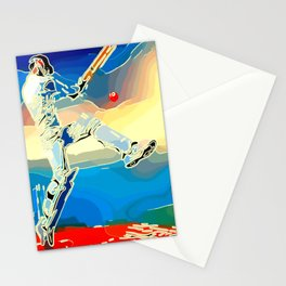 Cricket Test Captain Stationery Cards