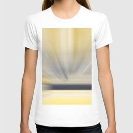 Charcoal Grey Yellow Abstract T-shirt
