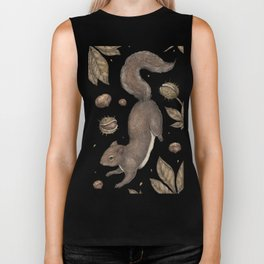 The Squirrel and Chestnuts Biker Tank