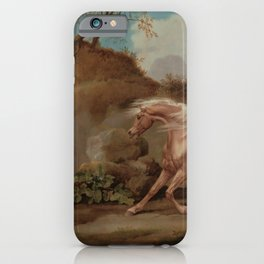 George Stubbs - Horse Frightened by a Lion iPhone Case