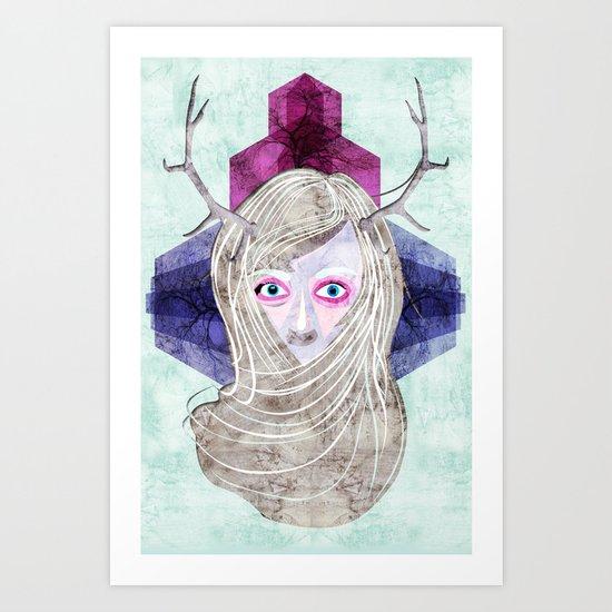 Hair Mask Art Print