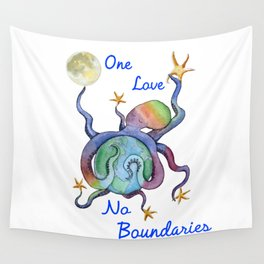 One Love No Boundaries Wall Tapestry