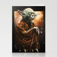 yoda Stationery Cards featuring Yoda by calibos