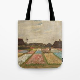 Bulb Fields by Vincent van Gogh Tote Bag