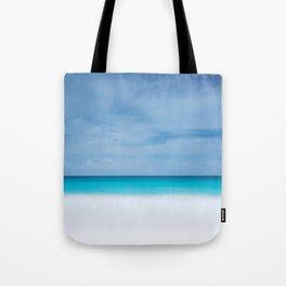Tropical paradise beach turquoise sea ocean nature travel hipster Caribbean Fiji horizon photograph Tote Bag