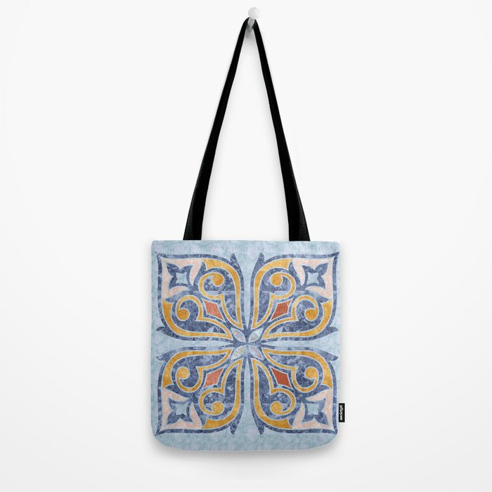 Blue Oriental Tile 04 Tote Bag