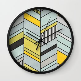 Abstract chevron pattern Wall Clock
