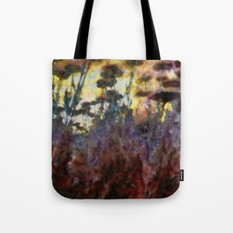 In Among Flowers Tote Bag