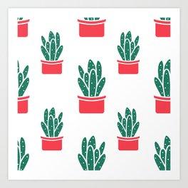 Cactus Neck Gator Succulent Cacti Art Print
