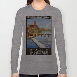 Albi, French Travel Poster Long Sleeve T-shirt