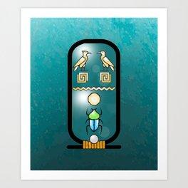 Egyptian Cartouche Art Print