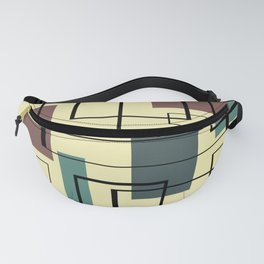 Mid Century Modern Rectangles Fanny Pack