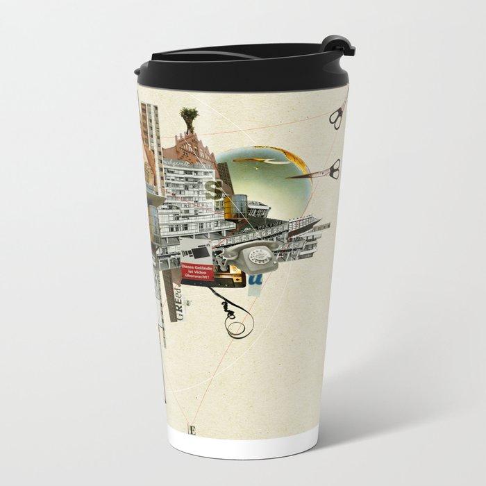 Collage City Mix 4 Metal Travel Mug