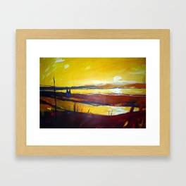 Across the Line Framed Art Print