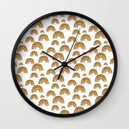 Retro Rainbow Pattern Wall Clock