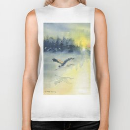 Flying Home - Great Blue Heron Biker Tank