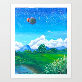 Daylight stargazing Art Print