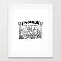 goodfellas Framed Art Prints featuring Goodfellas Custom Bicycle Brigade - Calaveras Logo by Goodfellas Custom Bicycle Brigade