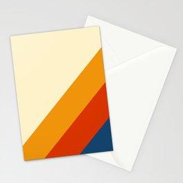 Retro Lines Diagonal Stationery Cards