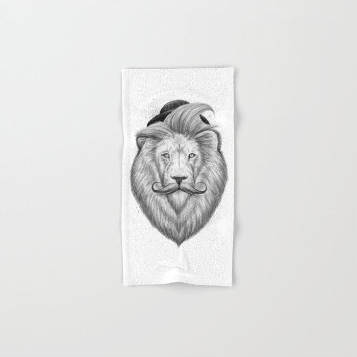 bearded lion Hand & Bath Towel